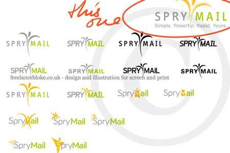 spry mail logo development