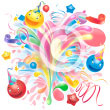 colourful party fun splash