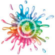 colourful splash of water - raster